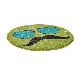 Petit tapis rond vert tendance Hipster