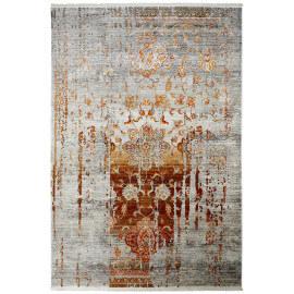 Tapis terre en polyester vintage pour salon Hakin