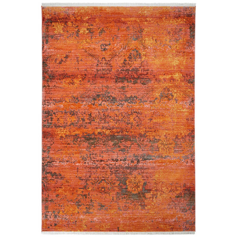 Tapis de salon rouge en polyester vintage renzo for Tapis salon rouge