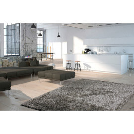 Tapis shaggy brillant avec Lurex gris Tapetto