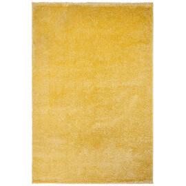 Tapis en polypropylène shaggy jaune uni Mida