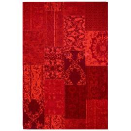 Tapis rouge plat patchwork effet vintage Burmade
