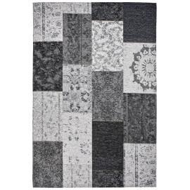 Tapis argenté plat patchwork effet vintage Burmade