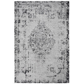 Tapis plat effet vintage rectangle argenté Shipa