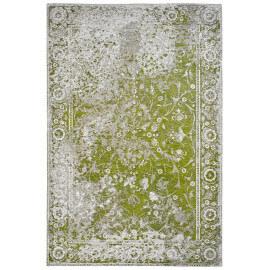 Tapis de salon vintage plat vert Tosca