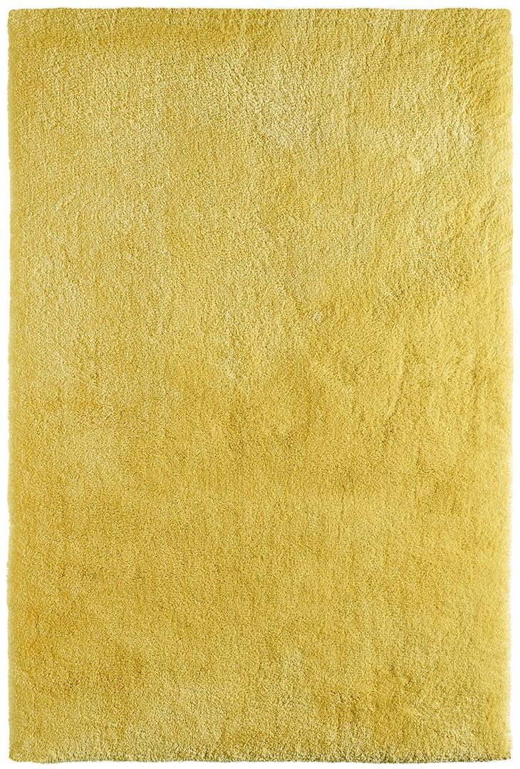 Tapis shaggy uni en polyester jaune Waffle
