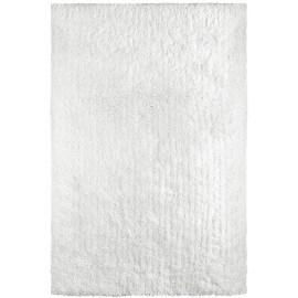 Tapis shaggy uni en polyester blanc Waffle