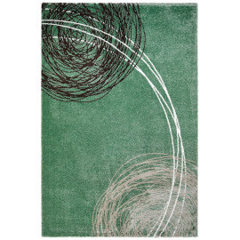 Tapis moderne rectangulaire vert Ingrid