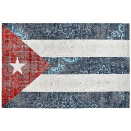 Tapis drapeau cubain plat imprimé Cuba