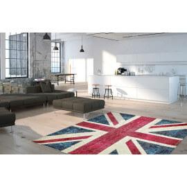 Tapis drapeau anglais plat imprimé Union Jack