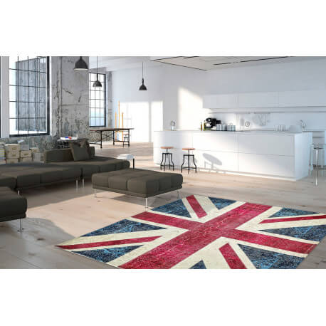 Tapis Drapeau Anglais Plat Imprime Union Jack