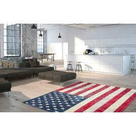 Tapis drapeau américain plat imprimé USA