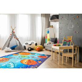 Tapis plat pour chmabre d'enfant multicolore Solar