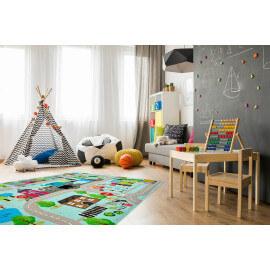 Tapis multicolore pour enfant plat Street