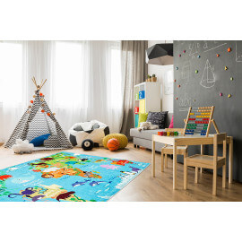 Tapis pour bébé multicolore plat World