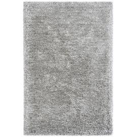 Tapis en polyester doux shaggy argenté Wow