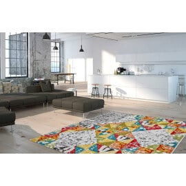 tapis multicolore arc en ciel de couleurs avec un tapis color. Black Bedroom Furniture Sets. Home Design Ideas