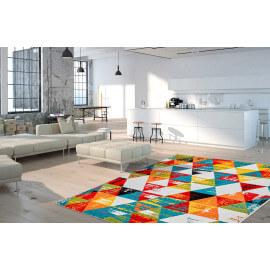 tapis multicolore arc en ciel de couleurs avec un tapis. Black Bedroom Furniture Sets. Home Design Ideas