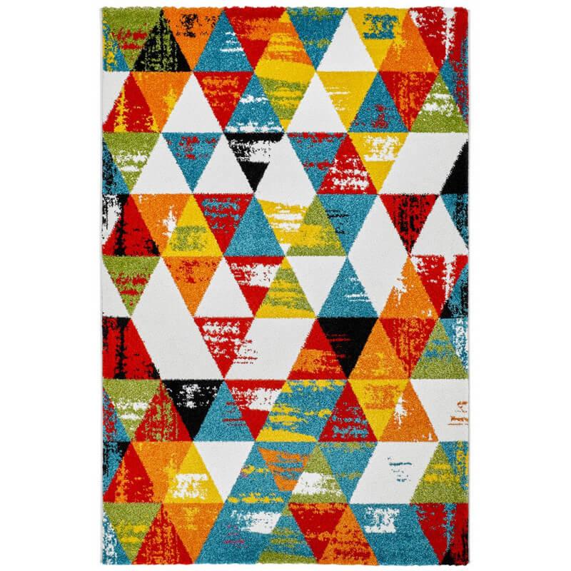 tapis multicolore design g om trique pour salon daiki. Black Bedroom Furniture Sets. Home Design Ideas