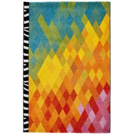 Tapis géométrique design multicolore à courtes mèches Kara