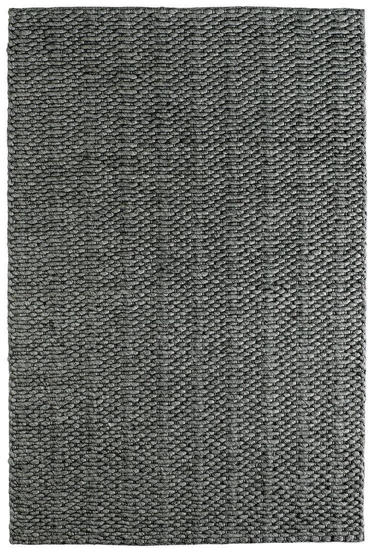 Tapis fait main en laine et viscose uni Bombus