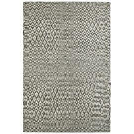 Tapis scandinave en laine géométrique à poils court café Mandoor