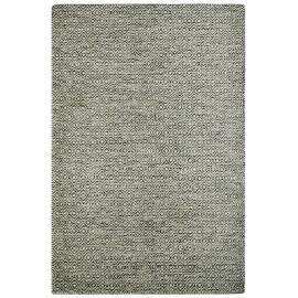 Tapis scandinave en laine géométrique à poils court taupe Mandoor