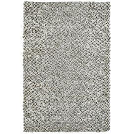 Tapis sable en laine et viscose épais Tatus