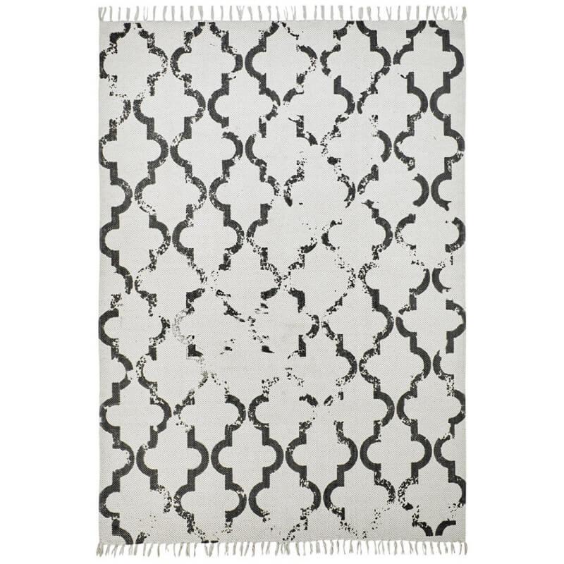 tapis en coton style scandinave vintage anthracite jokk. Black Bedroom Furniture Sets. Home Design Ideas