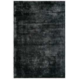 Tapis à poils court anthracite en Tencel anti-tâches Vanity