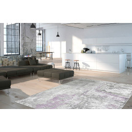 Tapis lavande vintage en viscose rectangle Studio