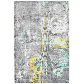 Tapis vert vintage en viscose rectangle Studio