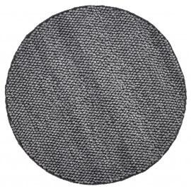 Tapis rond mélange laine et viscose graphite Deladeco Beluga