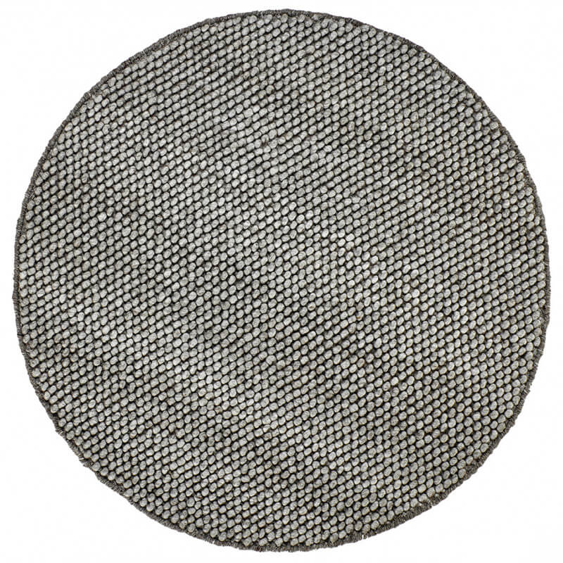 tapis rond mlange laine et viscose taupe deladeco beluga - Tapis Taupe