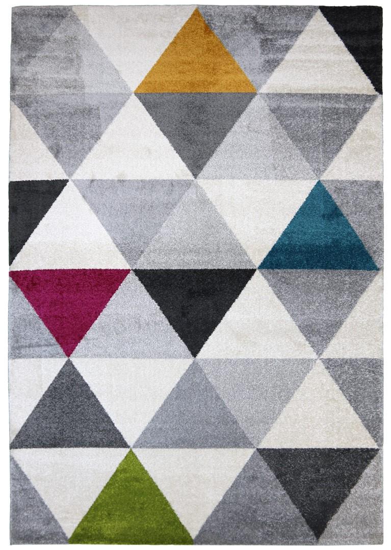 Tapis géométrique style scandinave multicolore pour salon Gomi