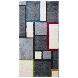 Tapis de chambre cubique multicolore à poils court Canvas