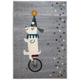 Tapis pour enfant argenté rectangle Circus