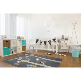 Tapis pour bébé gris rectangle Zou