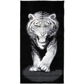 Tapis à motifs tigre pour intérieur noir Tiger
