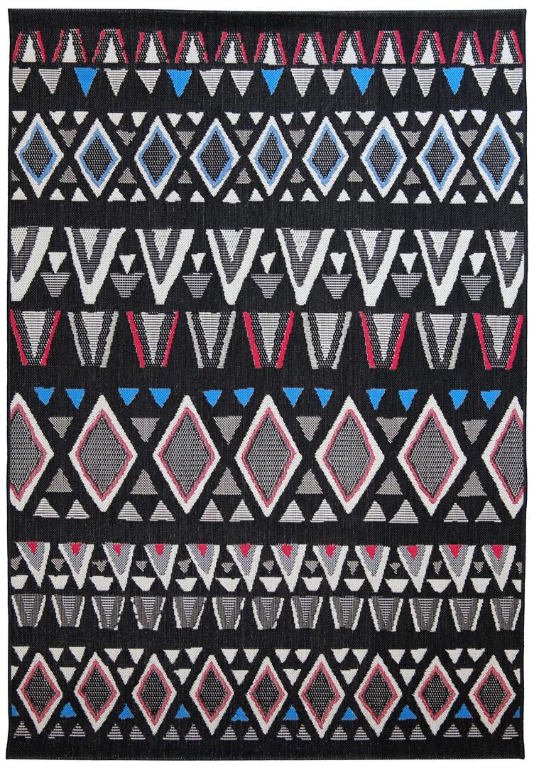 Tapis plat intérieur et extérieur multicolore ethnique Osvald