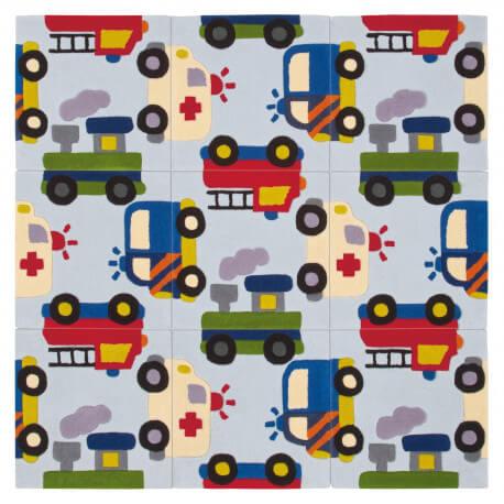 Tapis enfant puzzle car par Arte Espina