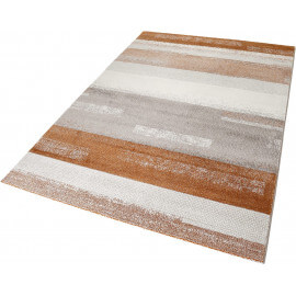 Tapis moderne rayé orange Dreaming Esprit Home