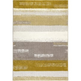 Tapis moderne rayé jaune moutarde Dreaming Esprit Home