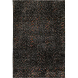Tapis taupe Relief moderne poils court Esprit Home