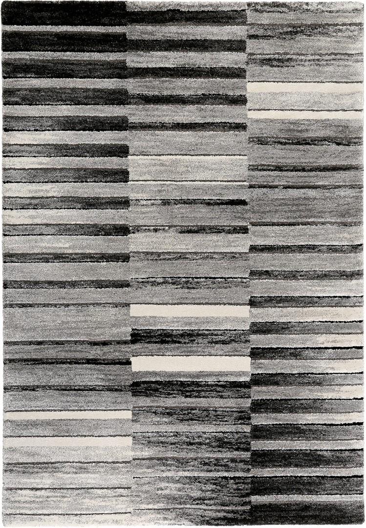 Tapis design noir et blanc rayé Wild stripes Esprit Home