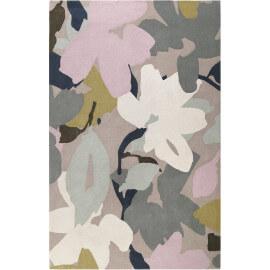 Tapis floral taupe en laine de N-Z Bloom Esprit Home