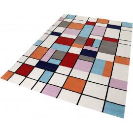 Tapis cubique multicolore en laine Buttons Esprit Home