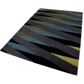 Tapis géométrique taupe moderne Lamella Esprit Home