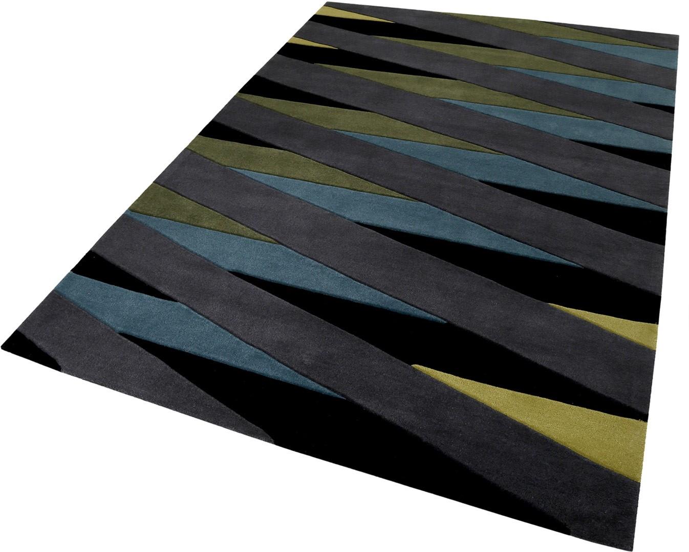tapis g om trique taupe modrne lamella esprit home. Black Bedroom Furniture Sets. Home Design Ideas