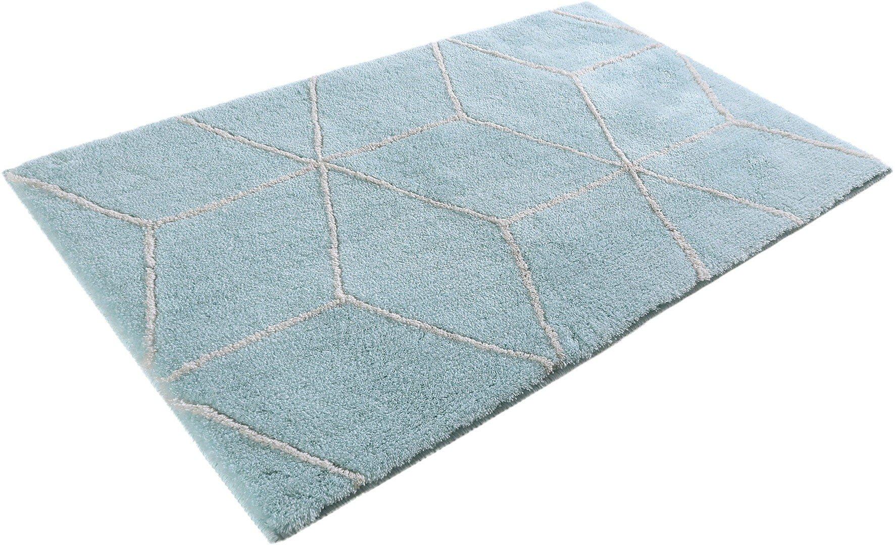 Salle De Bain Chocolat Turquoise tapis de bain turquoise géométrique flair esprit home